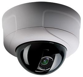 цветная купольная камера видеонаблюдения марки Pelco
