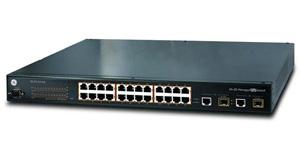 PoE коммутатор 24 порта GE/UTC