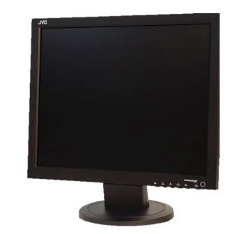 Компактный LCD монитор видеонаблюдения с разрешением 1280х1024 пикс.